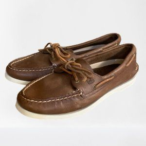 Sperry Brown Leather Boat Shoes Women's 9M
